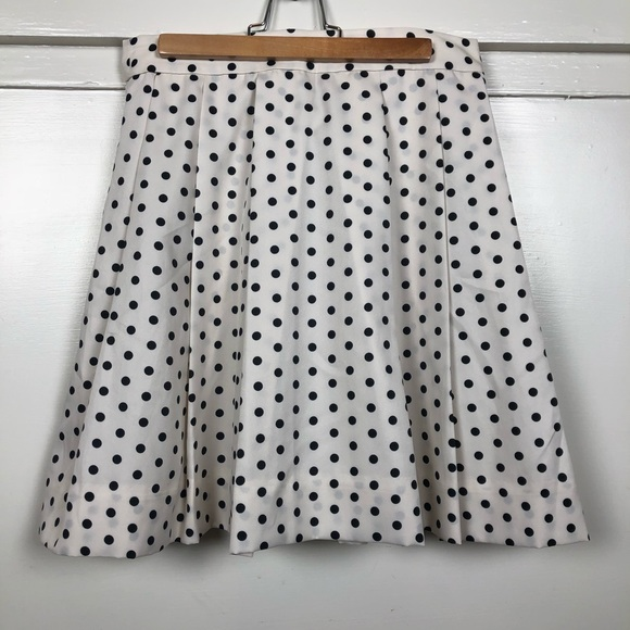 e8f6a9f75b J. Crew Factory Skirts   Nwt J Crew White Black Polka Dot Pleated ...